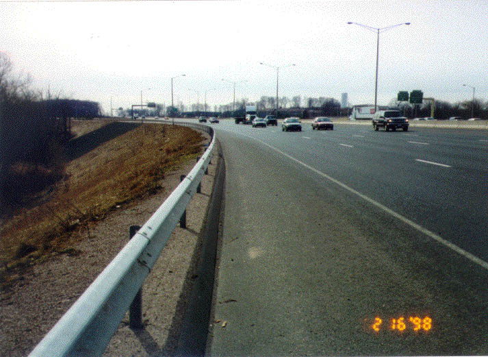 midwest guardrail system with round timber posts 1
