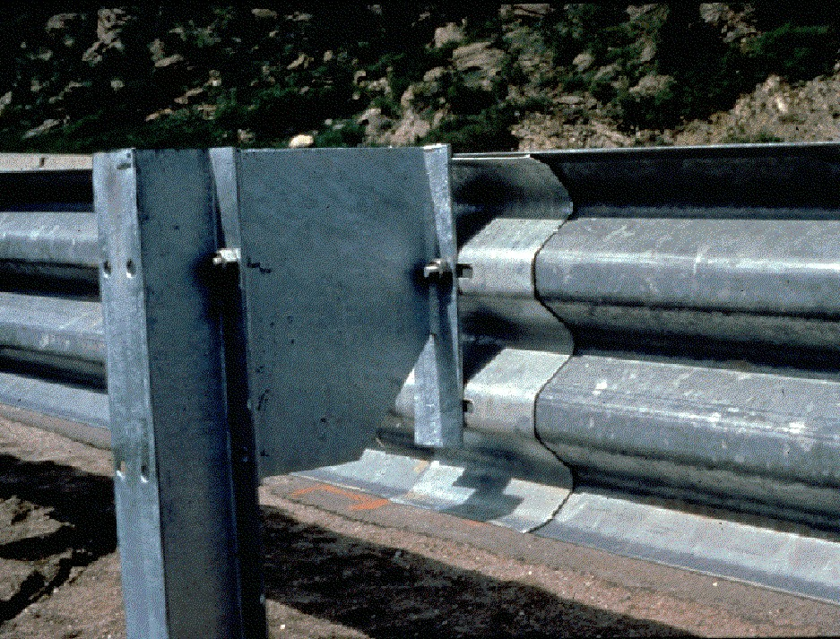 midwest guardrail system with round timber posts 3